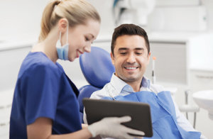 Dental PPC Campaign with dentist and client